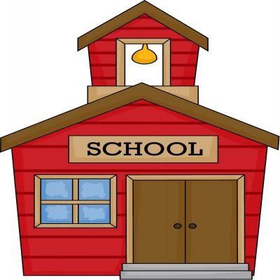 400x400 School House Clip Art Free Clipart