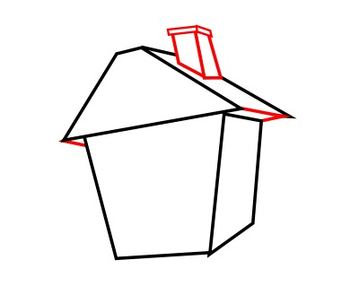 400x319 Drawing A Cartoon House