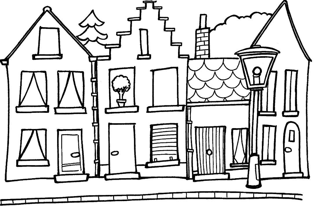 1093x726 School House Coloring Pages