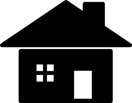 425x332 School House Outline Vector