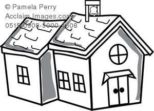 300x216 School House Outline Clipart