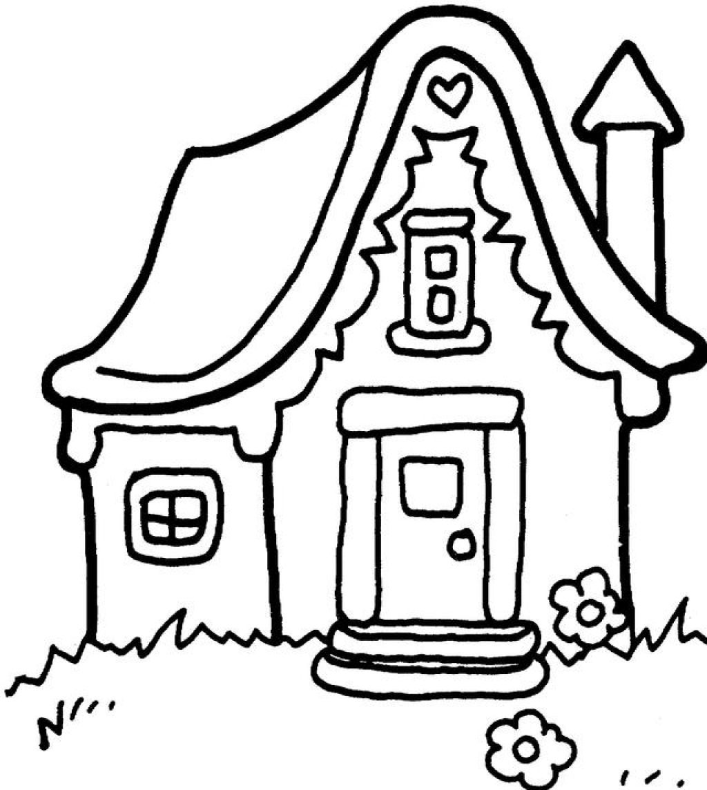 1024x1144 Cartoon House Coloring Pages