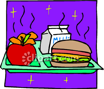School Lunch Tray Clipart