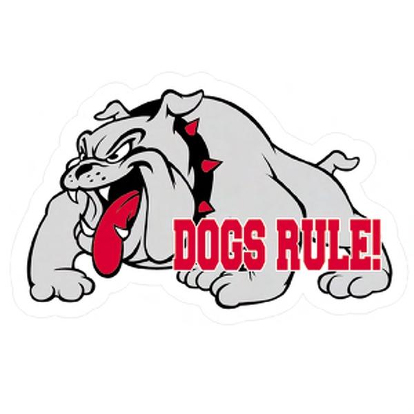 600x600 Bulldog Mascot Magnet Via Mascot Mania