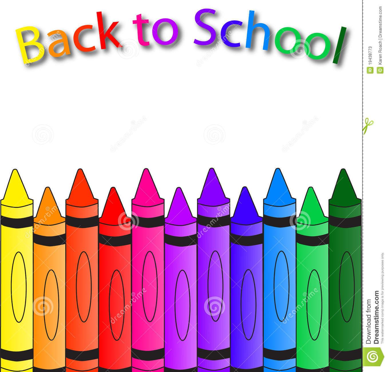Back To School Border Clip Art School Supplies...