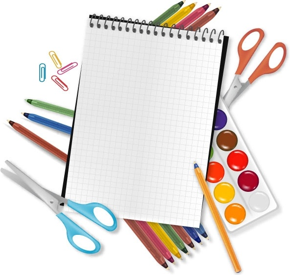 ae293f0a72fb 592x562 School Supplies And Stationery Vector Free Vector In Encapsulated