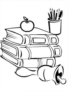 236x315 Compele School Supplies For Going Back To School Coloring Page