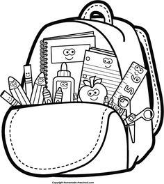 236x264 Funny School Supplies Clipart Collection
