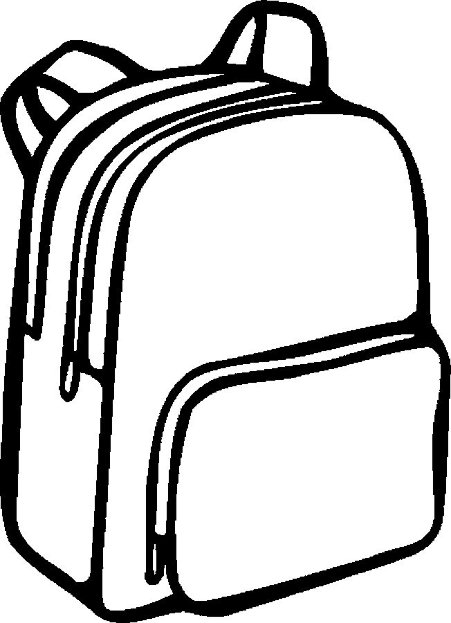 652x900 School Supplies Clipart Free Black And White