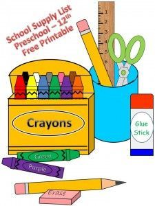 225x300 Best School Supplies List Elementary Ideas