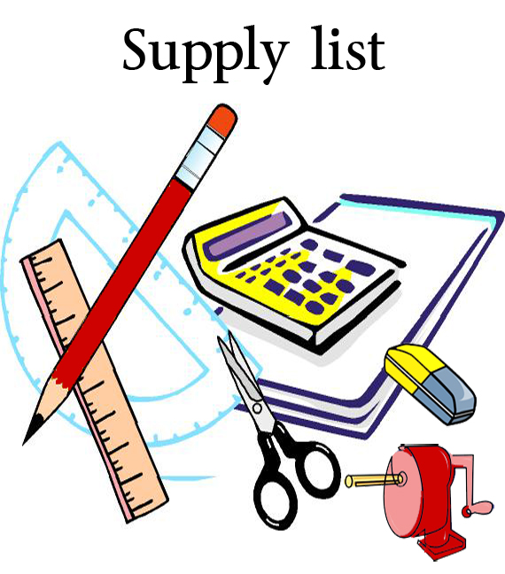 570x648 School Supplies List Clipart Panda