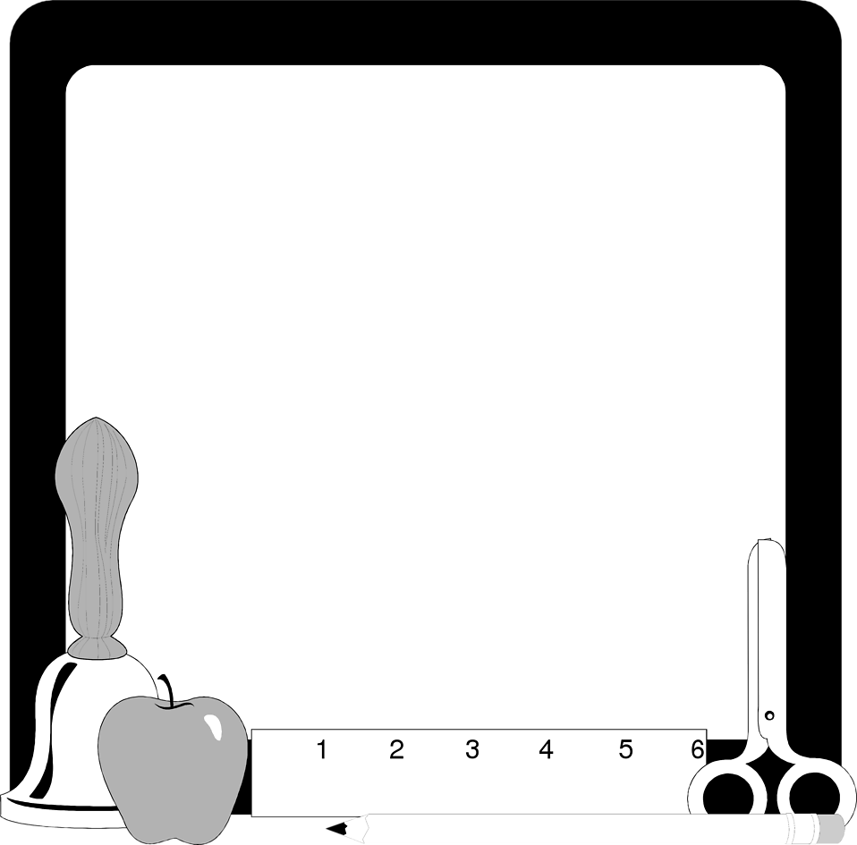958x945 Image Of School Supply Clipart Borders