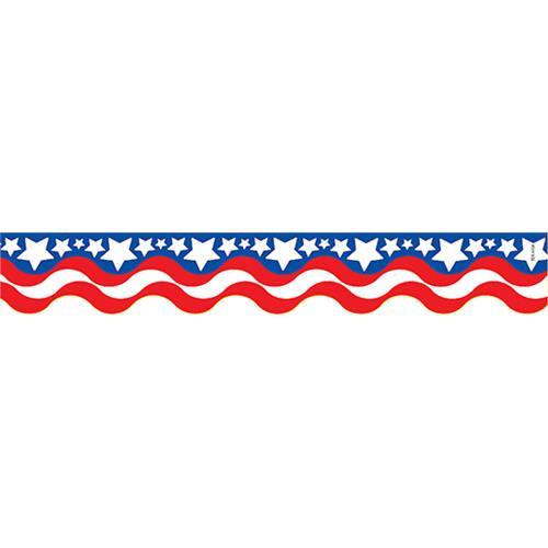 500x500 Patriotic Scalloped Bulletin Board Border Becker's School Supplies
