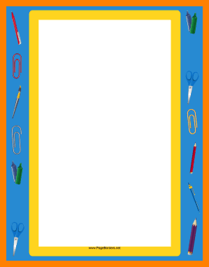 299x382 School Supplies Border Png Appeal Leter