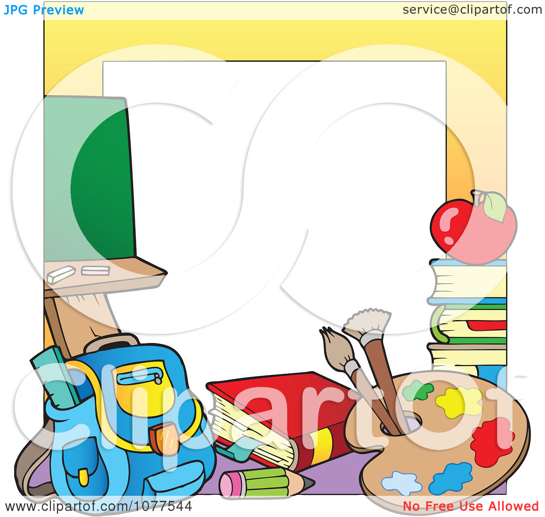 1080x1024 School Supplies Borders And Frames Clipart Panda
