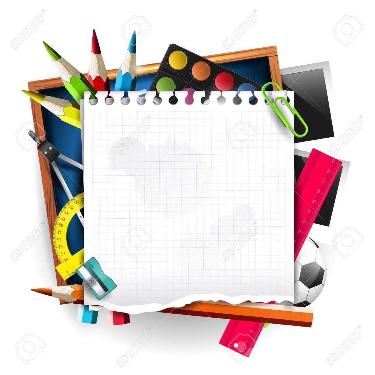 1300x1300 Paper Clipart School Supply