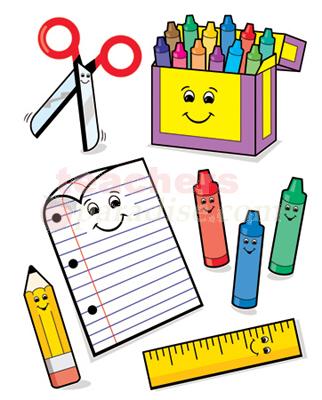 322x400 School Supplies Clipart