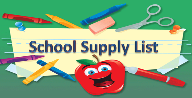660x339 School Supply List Clipart