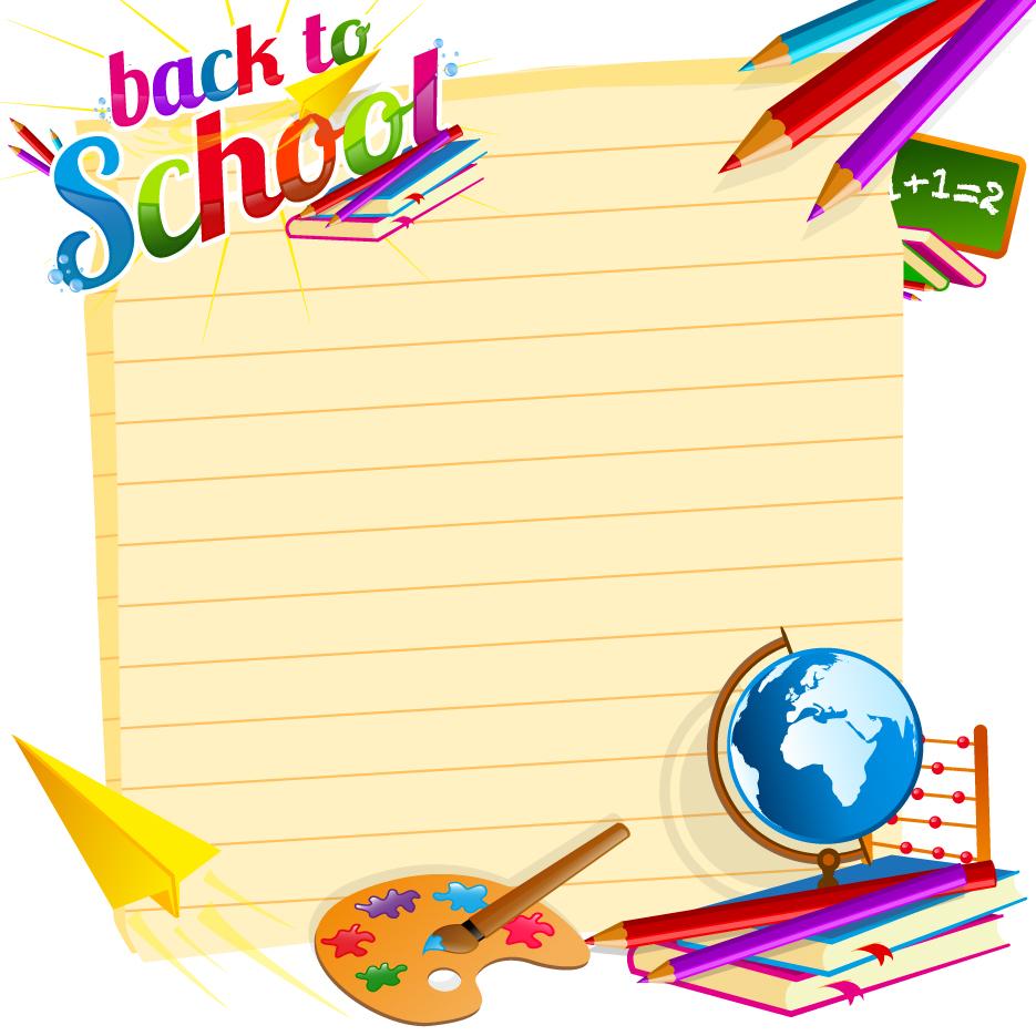 935x935 School Backgrounds Set 19 Vector Backgrounds