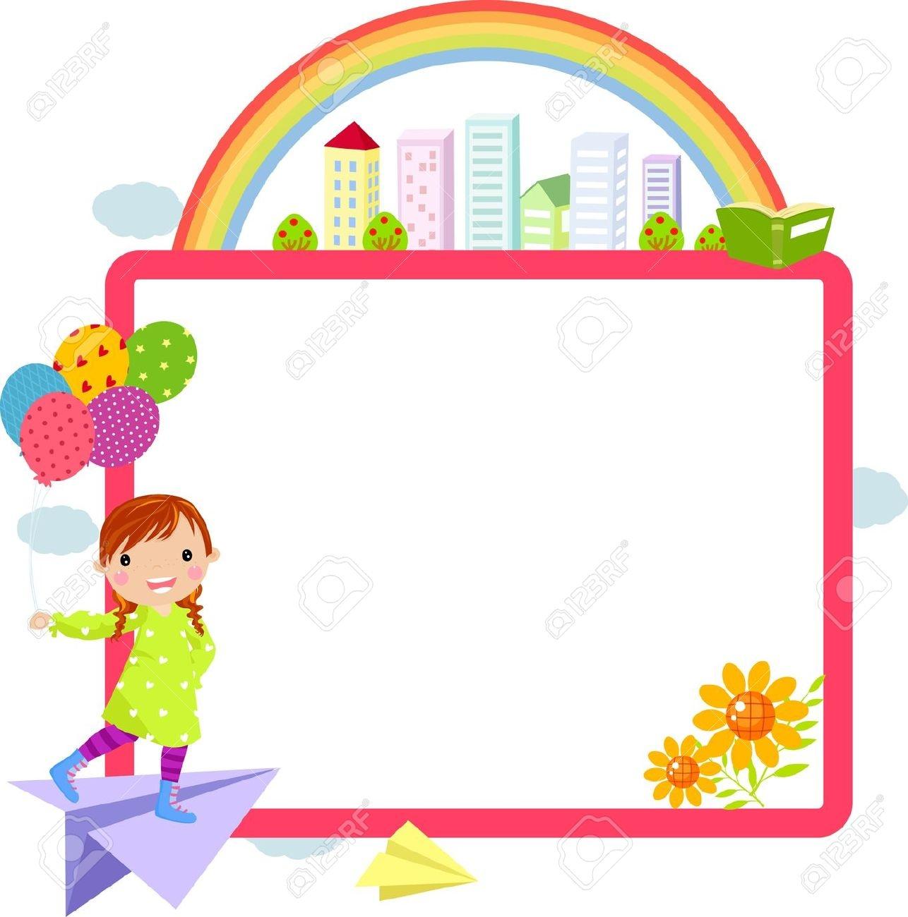 1286x1300 Cute School Clipart Horizontal Border