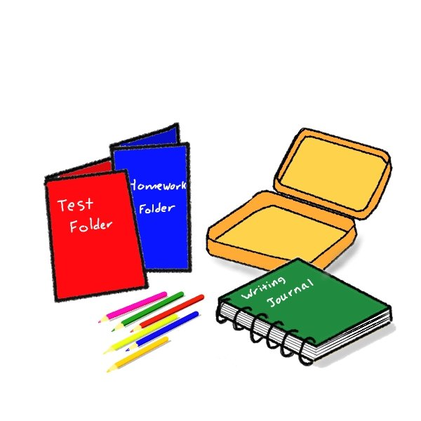 600x600 School Supplies Clip Art Clipart