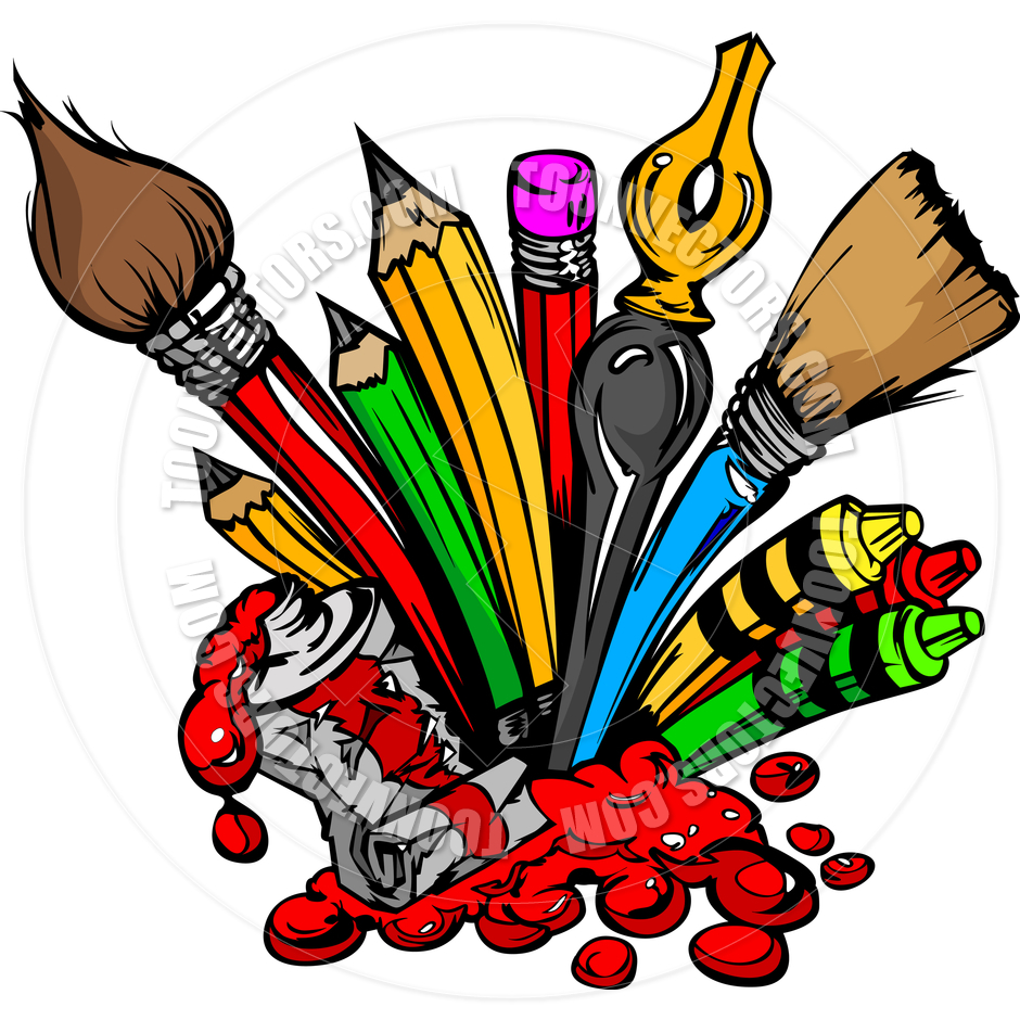 940x940 Art Supplies Clip Art