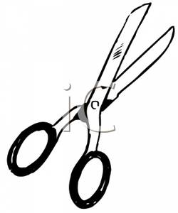 250x300 Black And White Pair Of Scissors