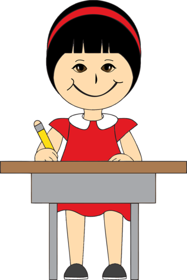 640x958 Clipart Children In School Desks