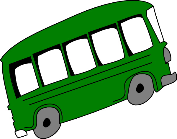 600x471 Green Bus Clip Art