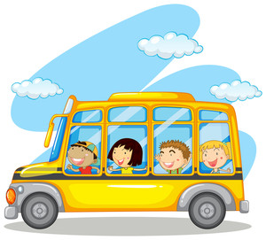 300x271 People Riding In Yellow Van Illustration Royalty Free Stock Image