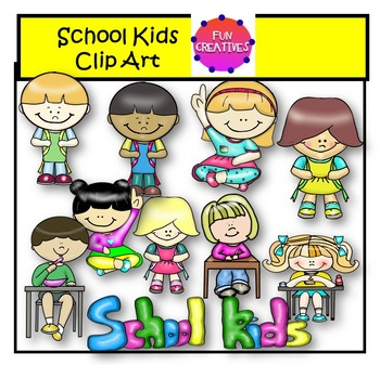 350x337 School Kids Clip Art Fun Creatives By Fun Creatives Tpt