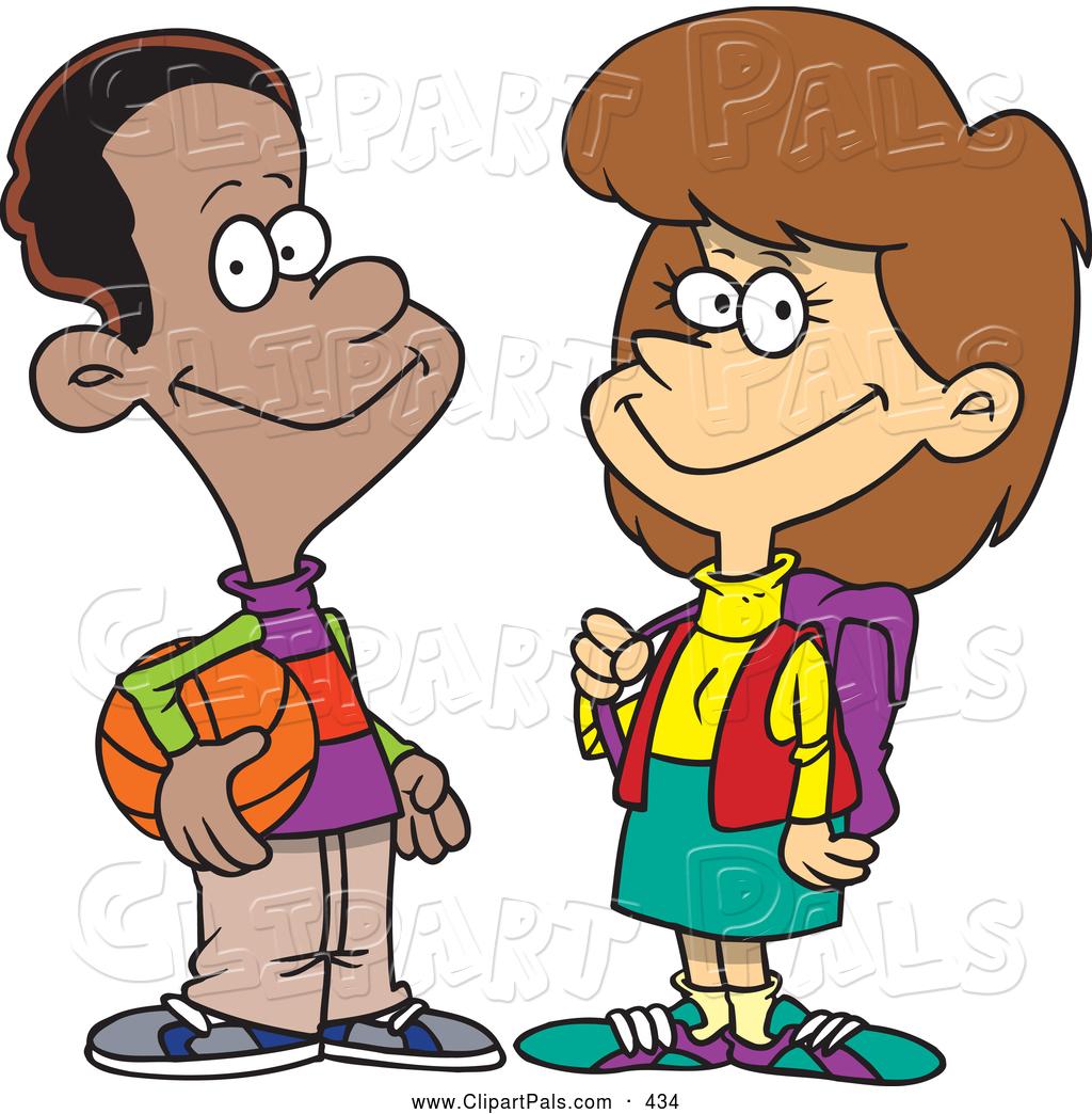 1024x1044 School Boy And Girl Clipart