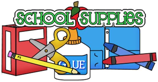 608x314 School Supplies Clip Art Many Interesting Cliparts
