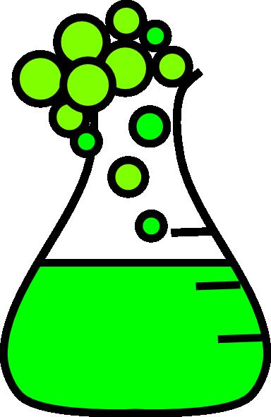 384x591 Green Bubble Flask Clip Art
