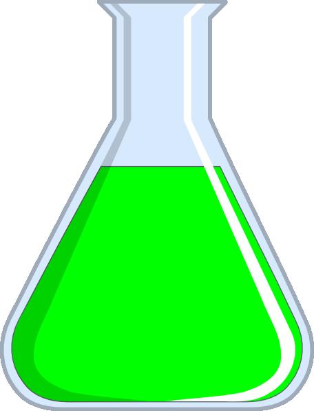 456x596 Green Clipart Beaker