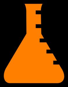 234x298 Orange Science Flask Clip Art