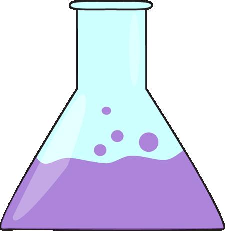 450x462 Bubbling Science Beaker Clip Art
