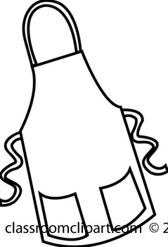 239x350 Art Black And White Apron Clipart
