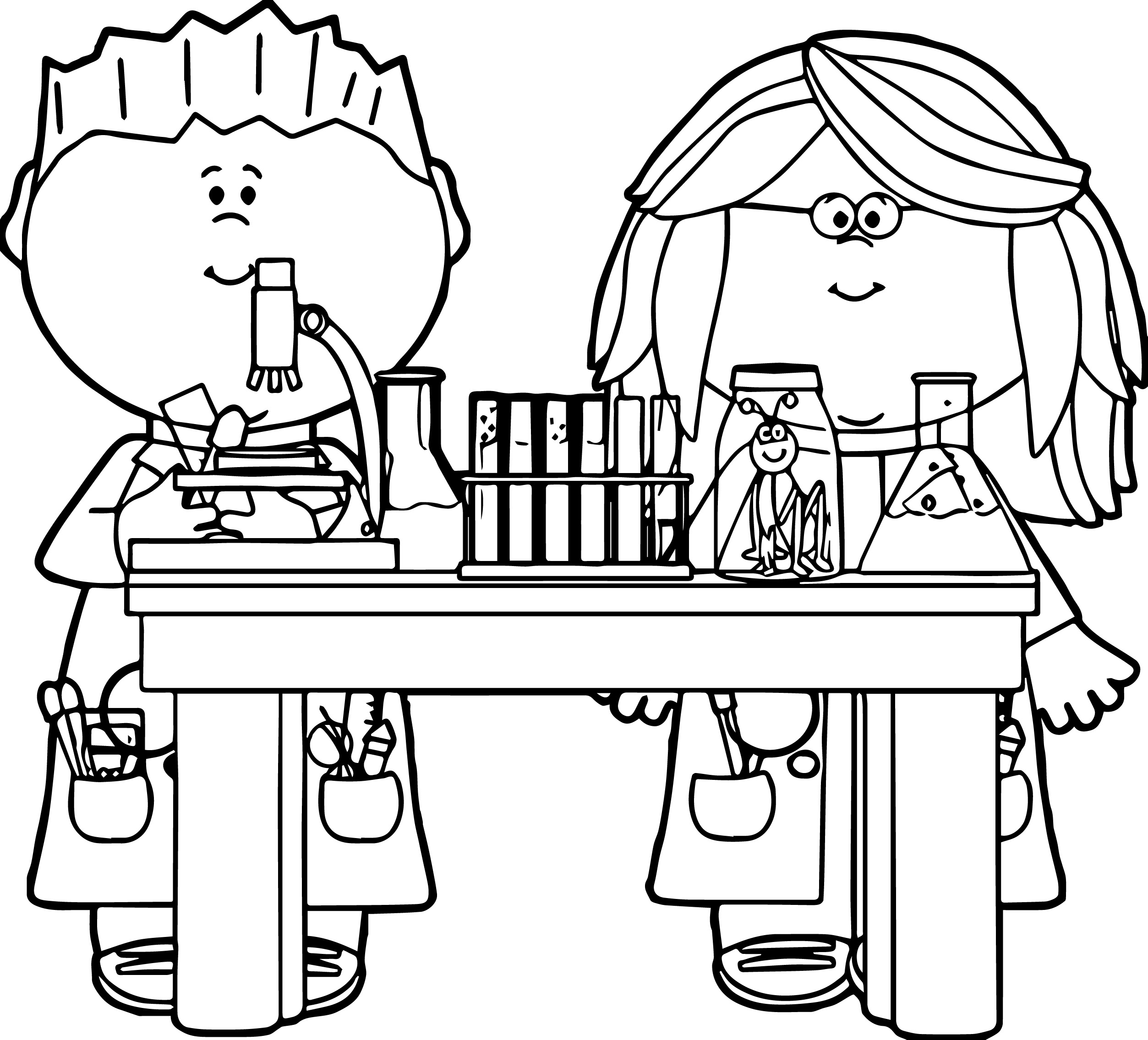 2506x2271 Kids In Science Class Clip Art Kids In Science Class Vector Image