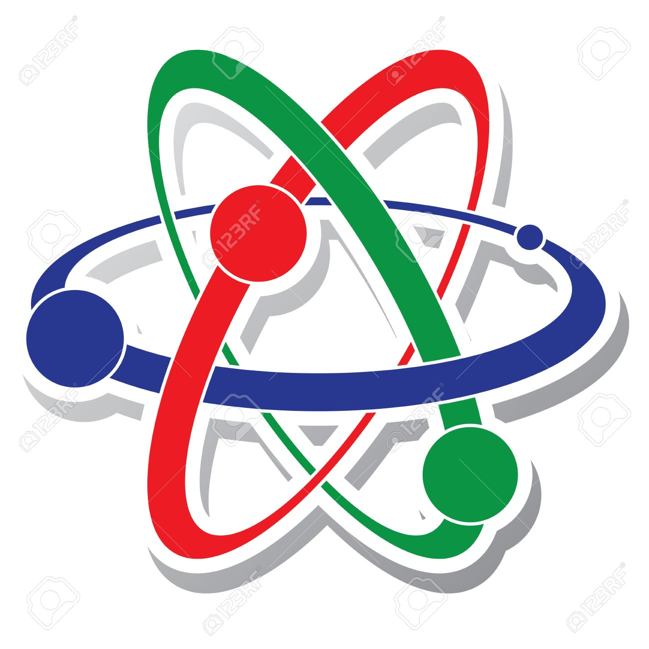 1299x1300 Abstract Science Icon Of Atom Royalty Free Cliparts, Vectors,
