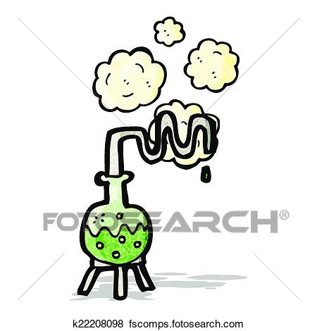 450x470 Clip Art Of Cartoon Science Experiment K22208098