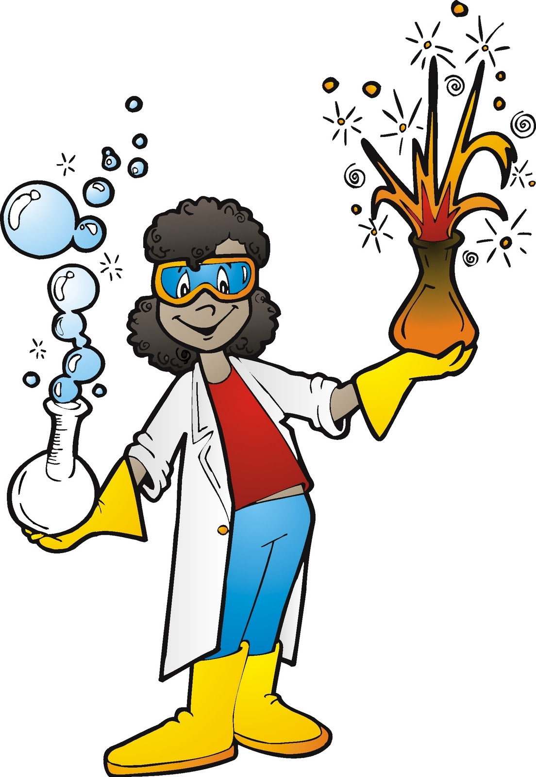 1104x1600 Free Science Experiment Clipart Image