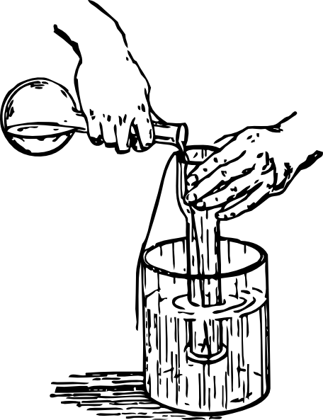 456x593 Liquid Experiment Clip Art