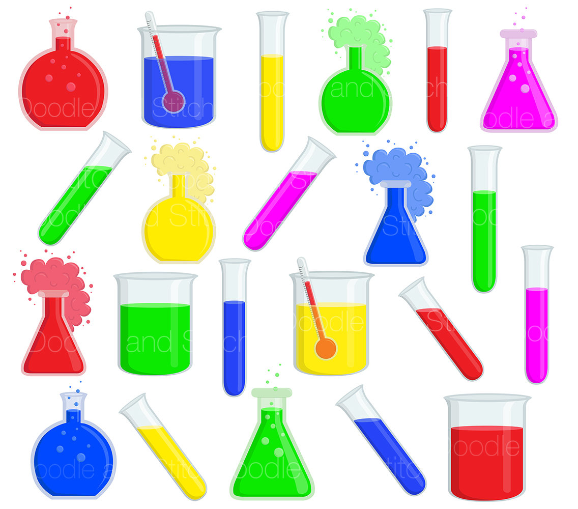 1136x1000 Science Clip Art Set, Fun Scientific Clipart, Science Experiment