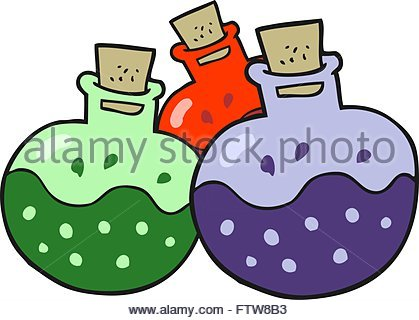 419x320 Freehand Drawn Cartoon Science Potion Stock Vector Art