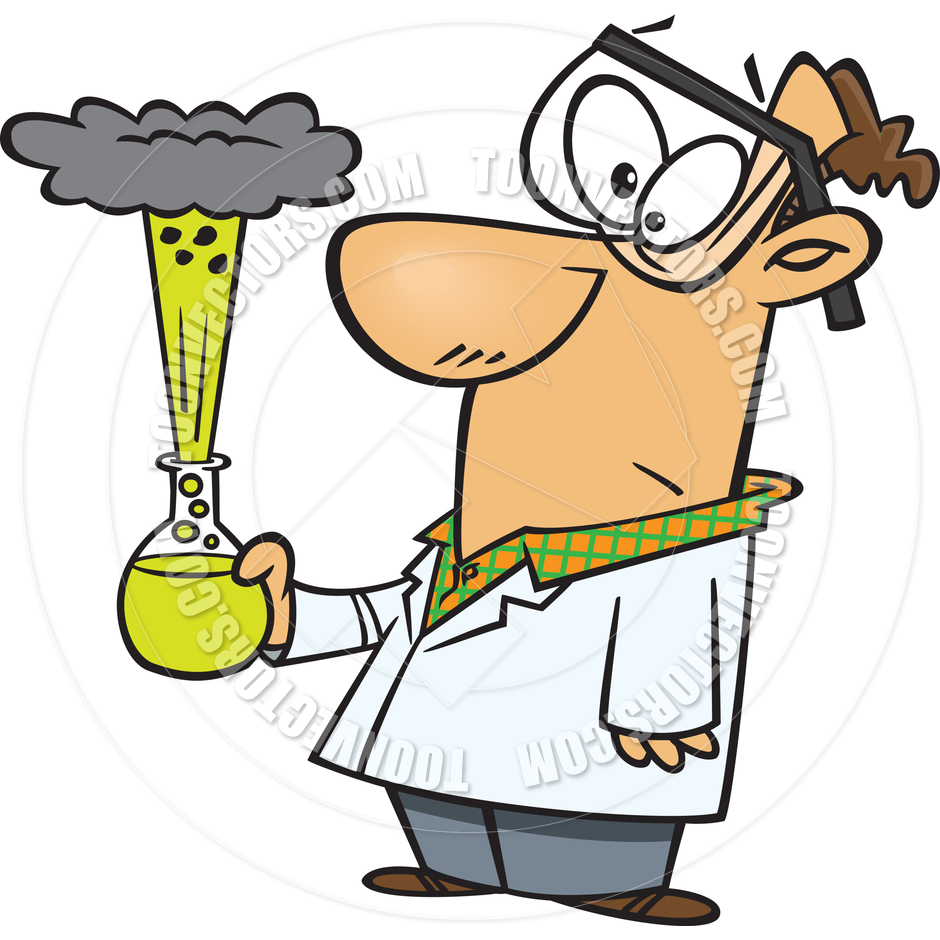 940x940 Cartoon Bad Science Experiment By Ron Leishman Toon Vectors Eps