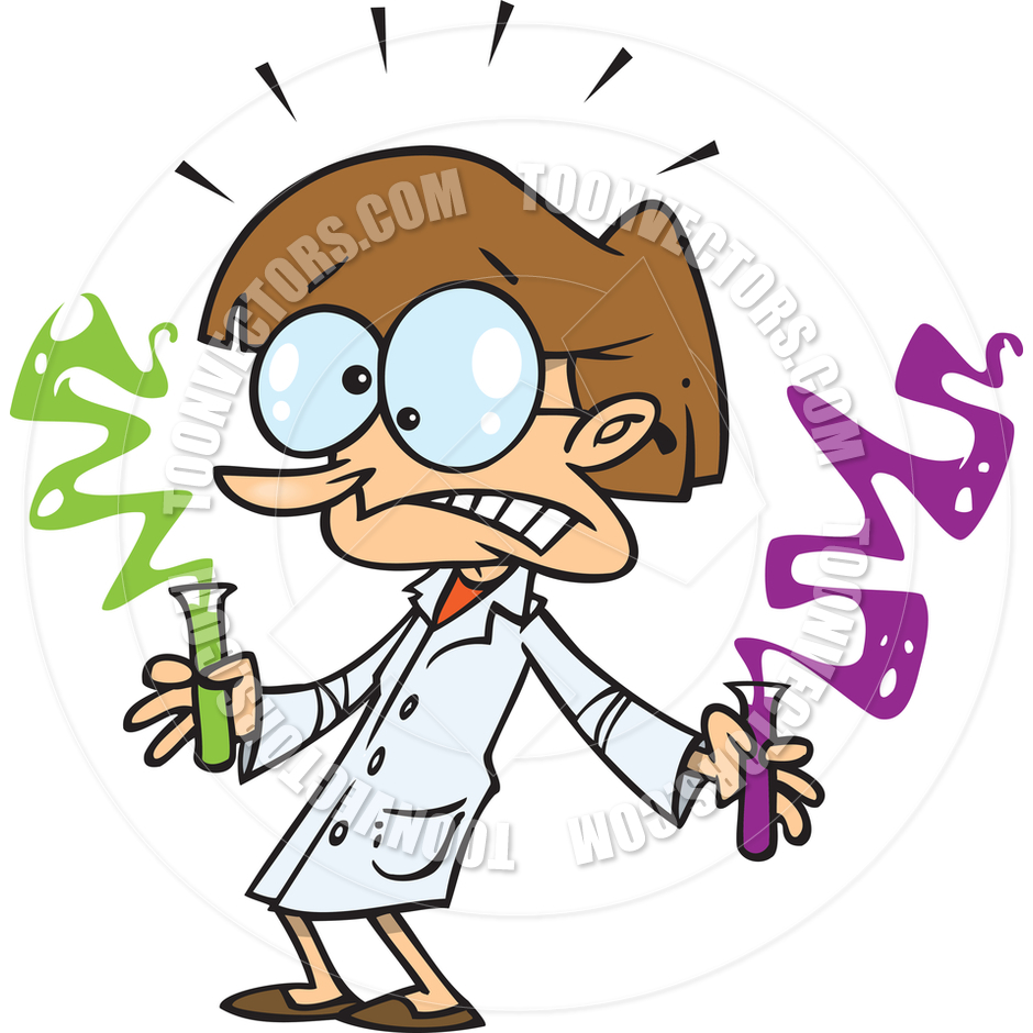 940x940 Cartoon Science Experiment By Ron Leishman Toon Vectors Eps