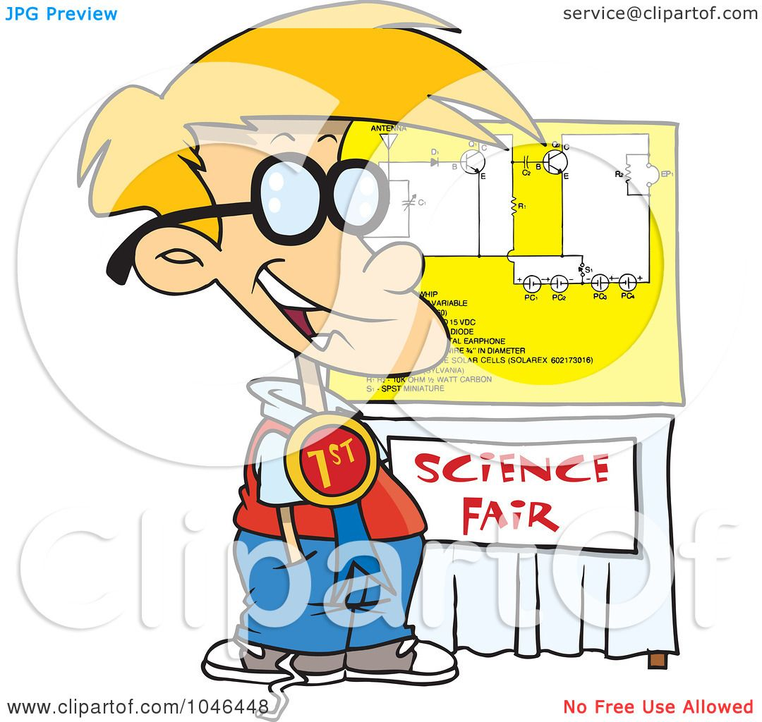 1080x1024 Royalty Free (Rf) Clip Art Illustration Of A Cartoon Science Fair