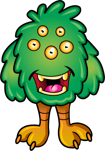 413x591 Free Clip Art Fantasy amp Sci Fi » Silly Creatures » Green Monster