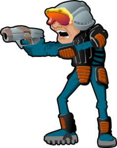 237x299 Sci Fi Cartoon Man Clip Art